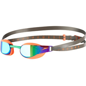 speedo Fastskin Elite Mirror - Lunettes de natation - orange/olive